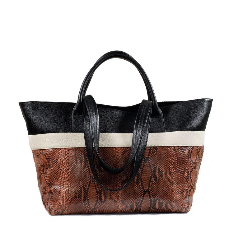 BOLDO Shopper Tote in Caramel Python. With a short handle for holding by hand, and a long strap for wearing over the shoulder, this Boldo Shopper Tote is best worn doubled up with a smaller bag on a busy day. Roomy and adaptable, it's excellent for travelling and overnights, or for work and weekends. This Shopper Tote is lined in a faux suede for luxury hand-feel. AU$550