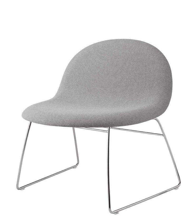 GUBI 43   Upholstered Grey Chair | Chair . Stuhl . Chaise | Design: Poul