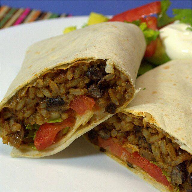 Black Bean And Rice Burritos Recipe Allrecipes In 2020 Black Beans And Rice Burritos Recipe Recipes