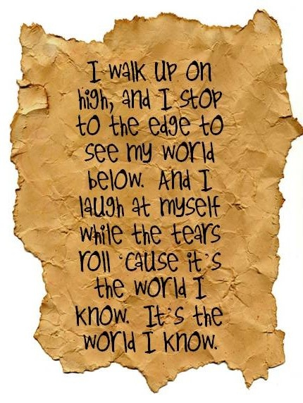 Collective Soul lyrics World I Know