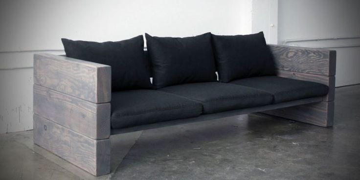 How to Make a Modern Outdoor Sofa for Cheap - Best DIY Patio Couch | Gotta say this is a good looking sofa