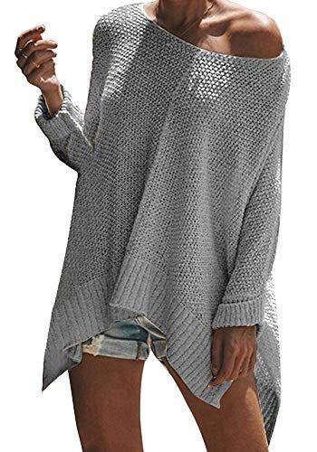 Col Sweater Chandail Casual Épaule Vertvie Femme Tricot Pull Nue v7nZqR8 0e56a27e5c2