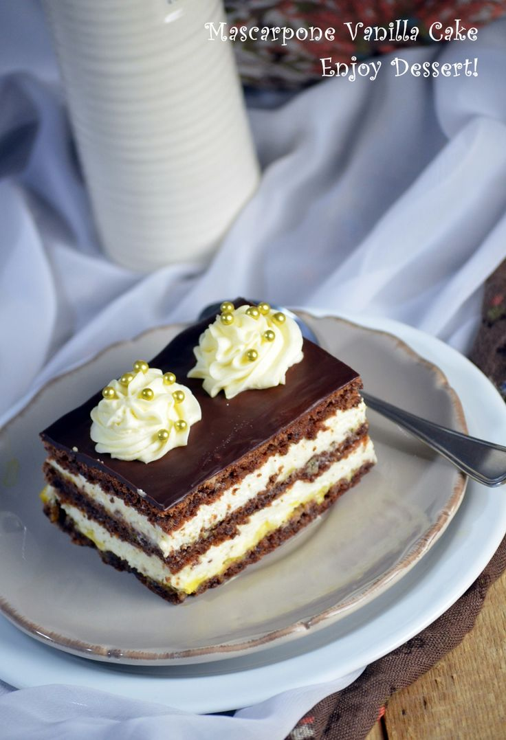 Prajitura cu crema de vanilie si mascarpone