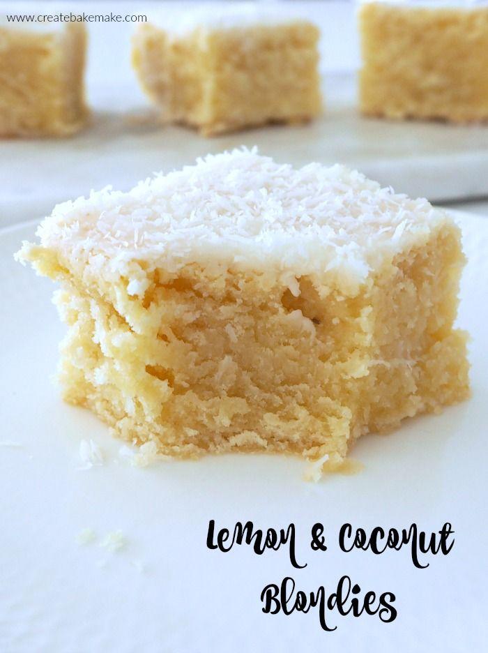 Lemon and Coconut Blondies