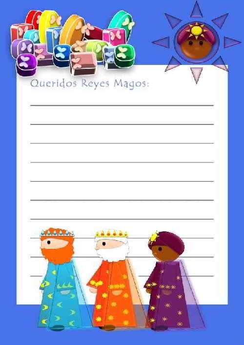 Recursos educativos cartas para los tres reyes magos ya - Que pedir a los reyes magos ...