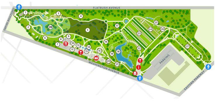 Map of Brooklyn Botanic Garden