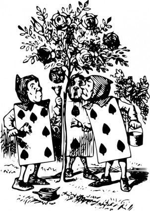 Alice In Wonderland Card Men clip art Vector clip art - Free vector for free download