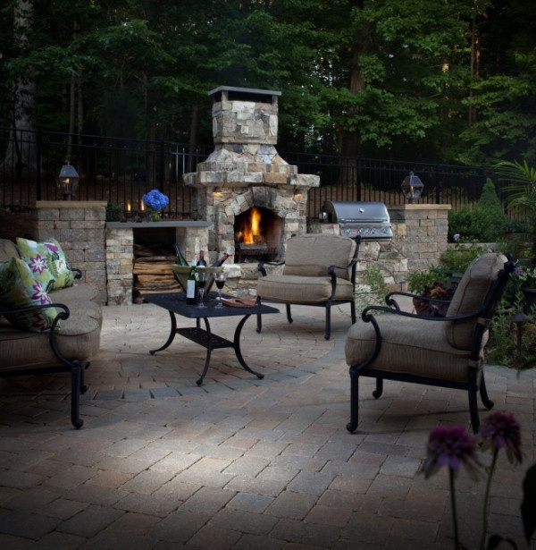 We love this patio made with our Dublin pavers. Could you relax here?