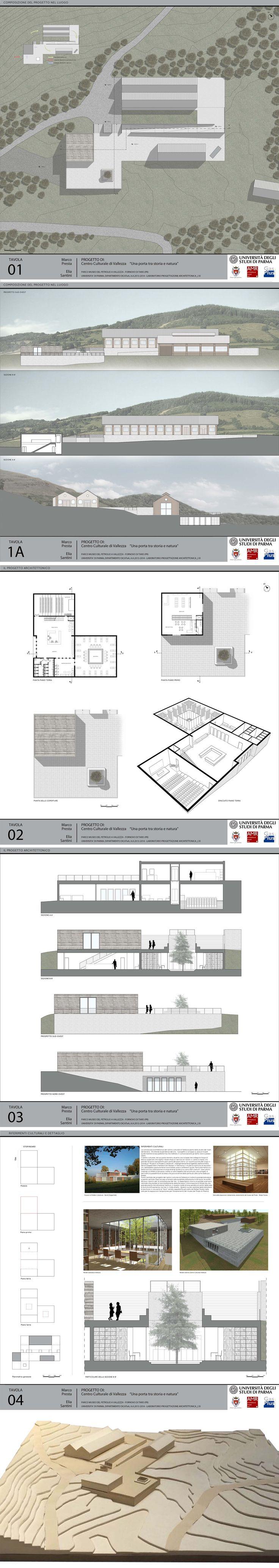 Laboratorio di progettazione II 2014 - Centro culturale di Vallezza, Fornovo (PR)