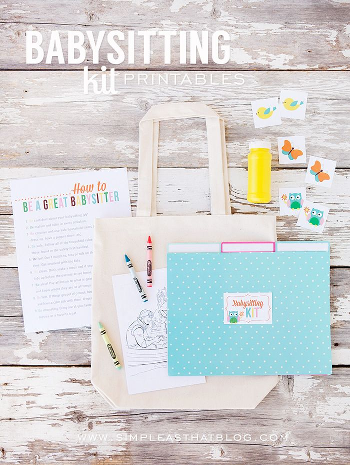 Teach girls about babysitting and create a simple babysitting kit with this set of free printables. www.simpleasthatblog.com #LDS #YW #ActivityDays