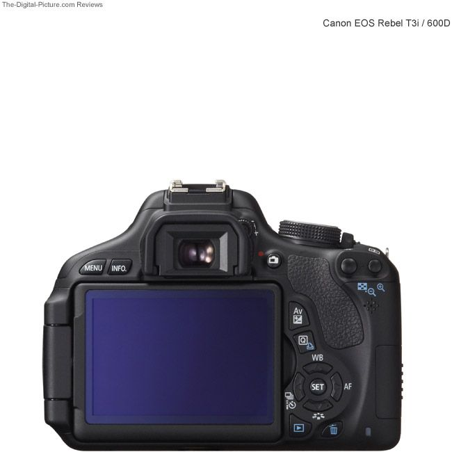 Canon EOS Rebel T3i / 600D Back View Comparison