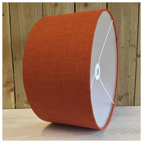 These wonderful & stylish shades are suitable for both lamp bases and ceiling pendants and are made using an excellent quality linen effect fabric in orange. Various other sizes & colours are available in separate listings ▪️Need a swatch of this fabric? Please order from this listing- https://www.etsy.com/uk/listing/514198455/sample-of-fabric ▪️Made to order within 5 working days ▪️Various sizes available ▪️Comes with a European 40mm centre and a Brit...