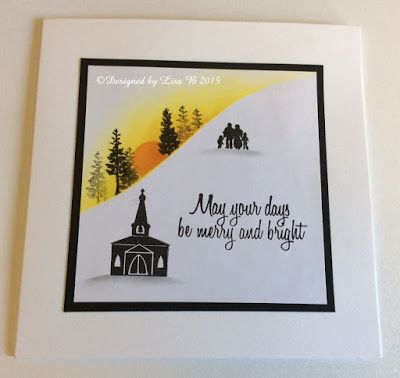 Handmade card by Lisa B. Card-io stamps & Distress inks.