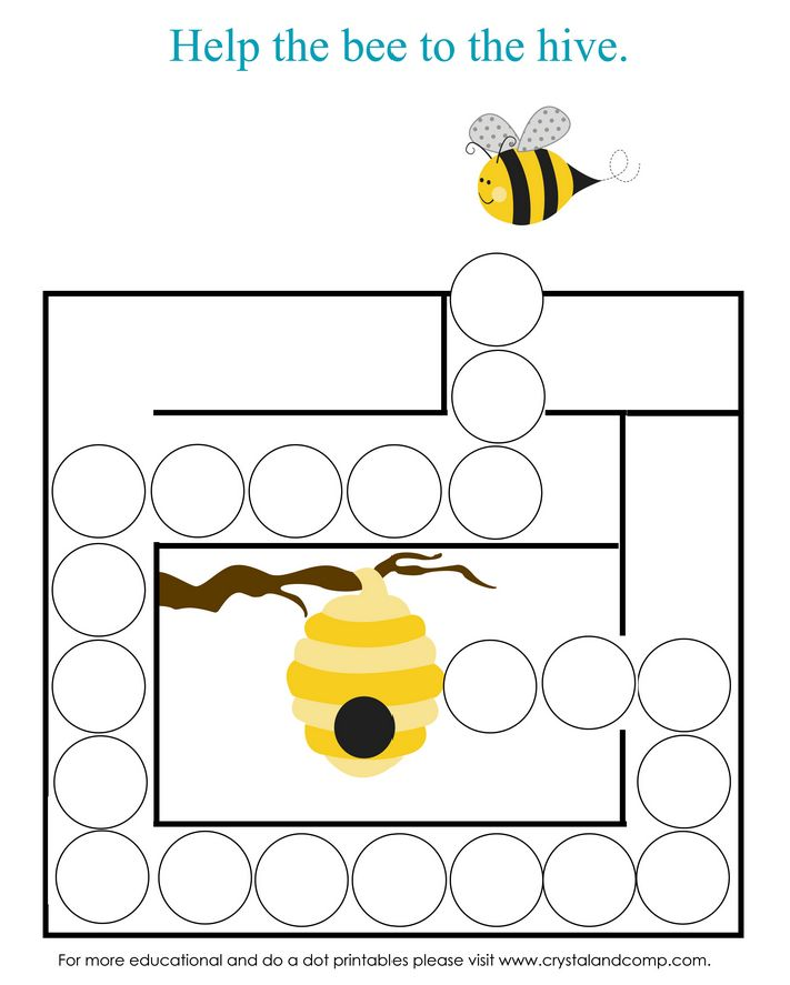 preschool do a dot printables: letter b maze