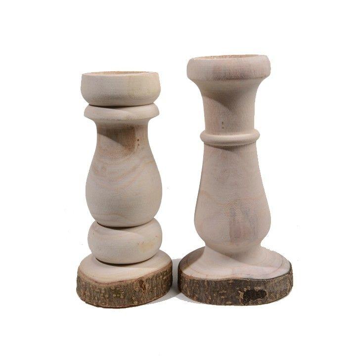 Kaarshouders Paulownia. Bijzondere, houten kaarsenhouders met een natuurlijke look. #intratuin