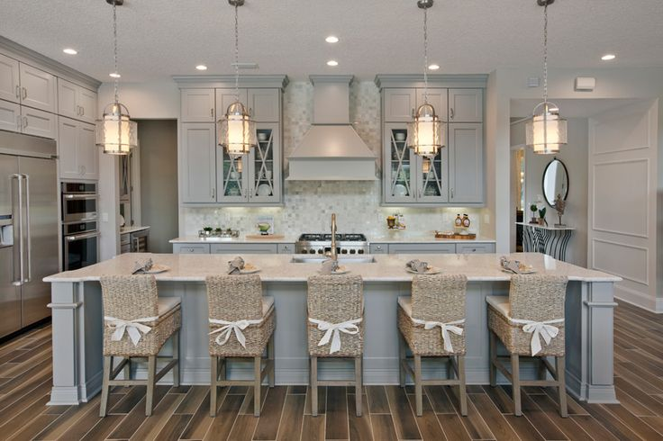 We love the kitchen of the Westbrook model in Coastal Oaks by Toll Brothers!