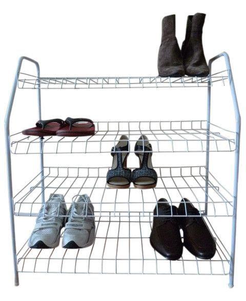 Contemporary 4-Tier Shoe Rack