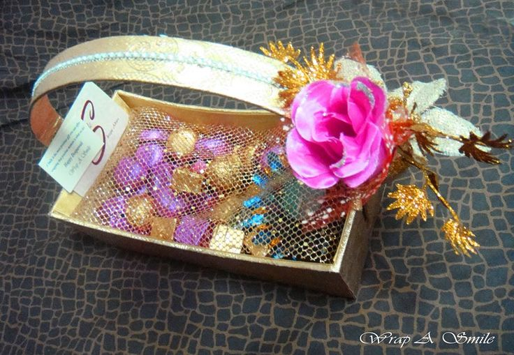 Mini Chocolate Basket by Wrap A Smile ! https://www.facebook.com/WrapASmile