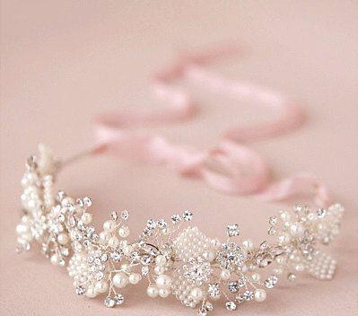 Crystal Bridal Headpiece Beaded Bridal by LaceandGraceCreation