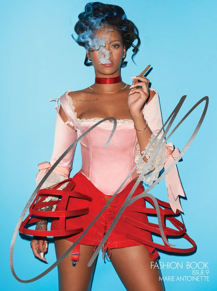 Rihanna as Marie Antoinette on the cover of CR Fashion Book, Issue 9