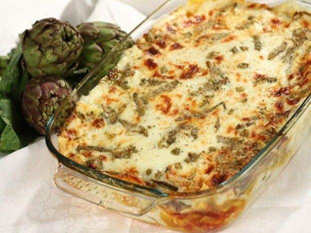 Foto lasagne ai carciofi