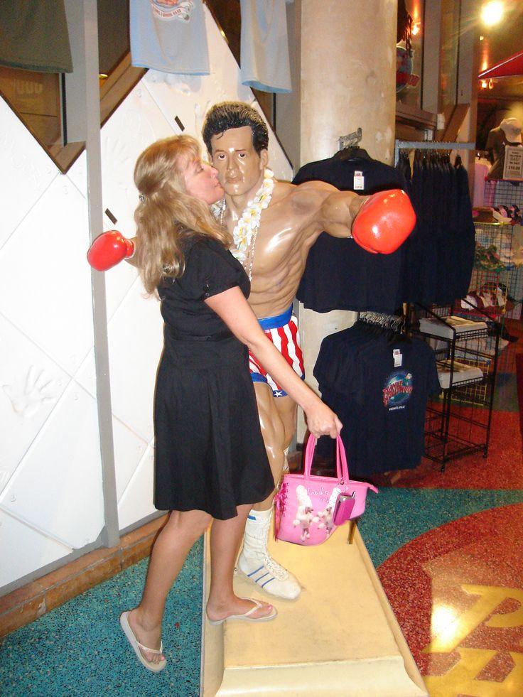 What a ya mean that's not a real man?? That's my hero, Sylvester Stallone