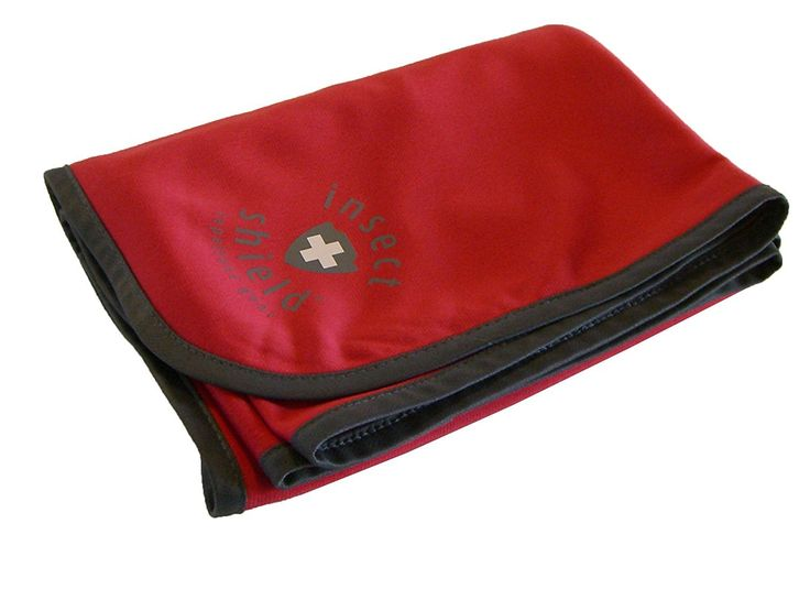 Insect Shield Mini Blanket, Red, 28 x 36-Inch. Insect Shield is a patent pending technology for treating gear that repels mosquitoes, ticks, flies and fleas. Insect Shield offers protection for the entire family. Whether in the backwoods or the backyard, Insect Shield helps keep you protected. Insect Shield has you covered with built in invisible, odorless insect protection. Comfortable 100% polyester blanket, 28 by 36 inches.