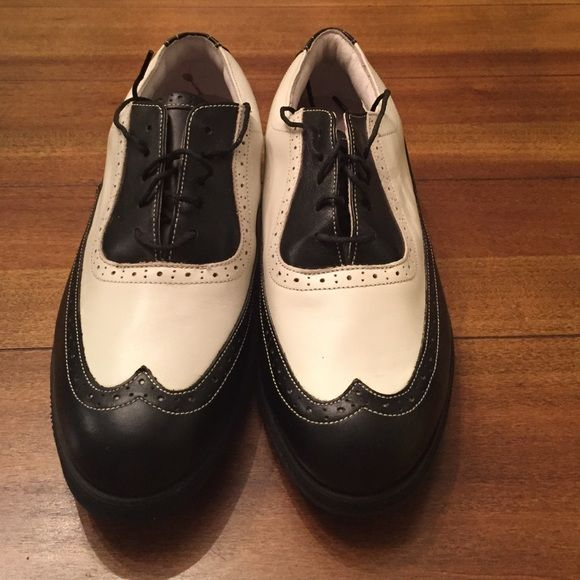 ⭐️SALE⭐️FootJoy Golf Shoes Brand new, never worn! Adorable black and white ladies golf shoes. From foot joys Europa collection. FootJoy Shoes