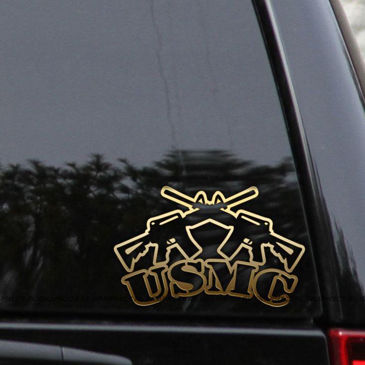 Details about usmc marines decal sticker veteran ar15 guns window laptop bumper