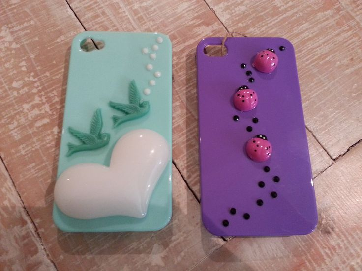 Hand decorated iphone 4/4S covers.