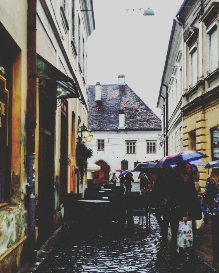 Cluj-Napoca in Cluj rainy day
