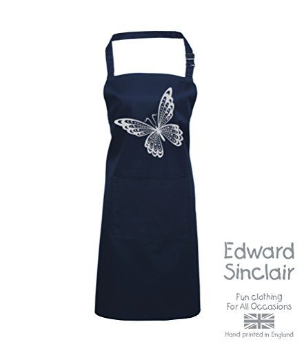 BUTTERFLY DESIGN' Navy Apron with Silver Sparkling Glitter print Edward Sinclair http://www.amazon.co.uk/dp/B00UAY5EOS/ref=cm_sw_r_pi_dp_zWSgvb10WZ785