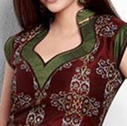 Stylish Cotton Churidar Suits Neck Gala Designs Patterns Images 2015 Catalog