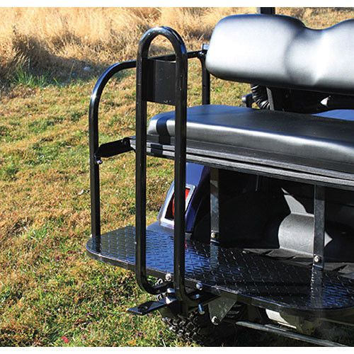 Universal Golf Cart Rear Seat Kit Safety Bar Grab Handle with Bumper Hitch