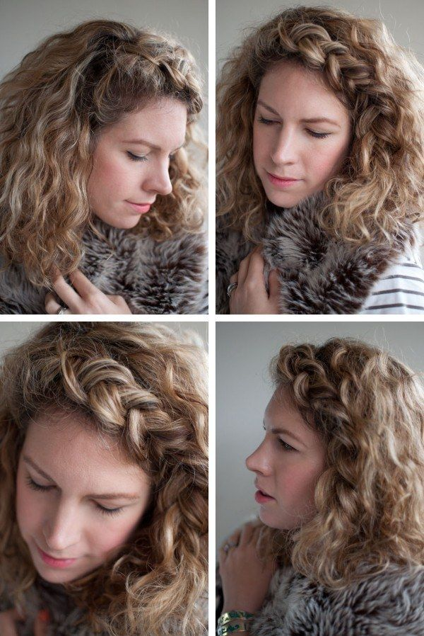 Try a super braided headband. | 21 Hairstyles You Can Do In Less Than 5 Minutes