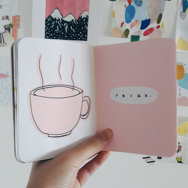 I think this is supposed to be coffee not tea, but could be tea... -- journal inspo / pinned by @softcoffee