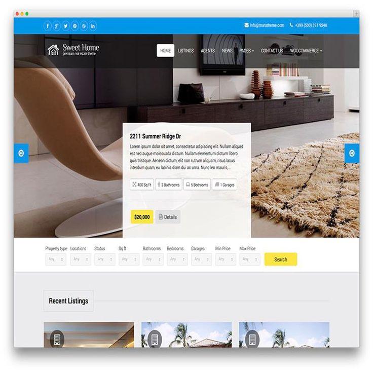 136 mejores imágenes de Real Estate WordPress Themes en Pinterest ...