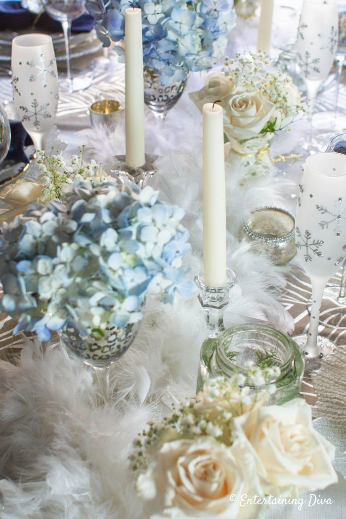 Winter Wonderland Table Decor Winter Centerpieces Winter Table