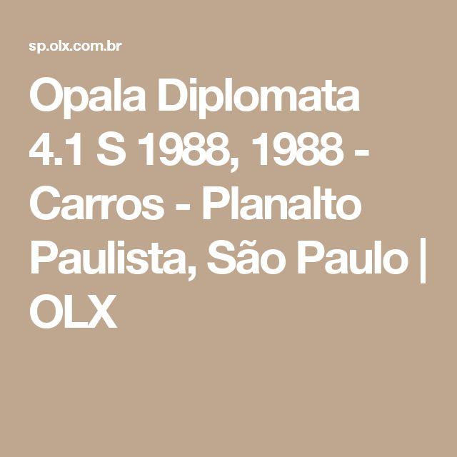 Opala Diplomata 4.1 S 1988, 1988 - Carros - Planalto Paulista, São Paulo   OLX