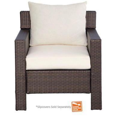 Hampton Bay Beverly Patio Deep Seating Chair with Cushion
