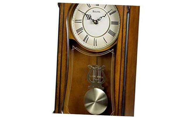 Bulova Clocks C3542 Cranbrook Wall Mount Analog Wooden Chiming Clock Brown Wall Clocks Ebay Link In 2020 Bulova Clock Clock Antique Wall Clock
