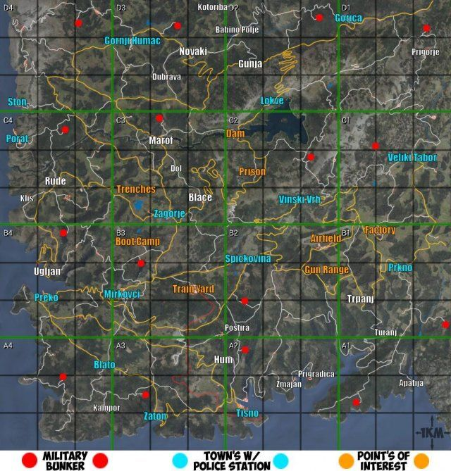 Scum Maps Loot Towns Police Stations Points Of Interest More Map Scum Police Station