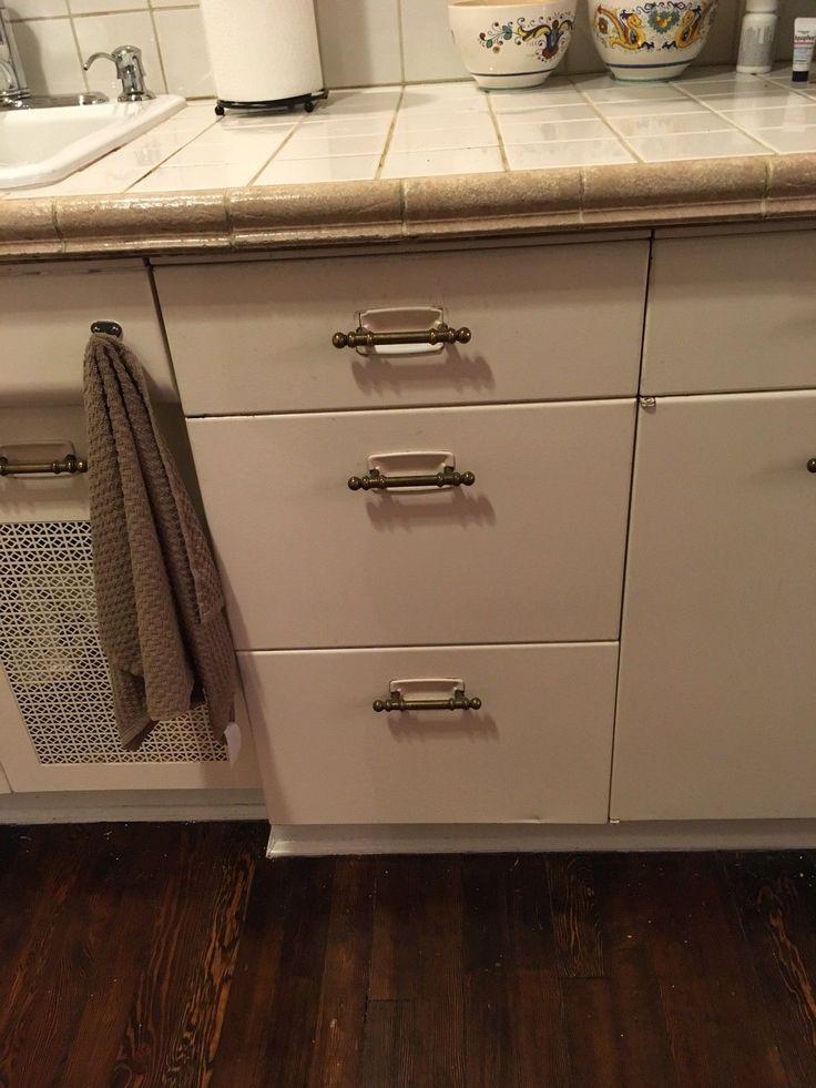 Vintage Metal Geneva Kitchen Cabinets. 4 lower cabinets ...