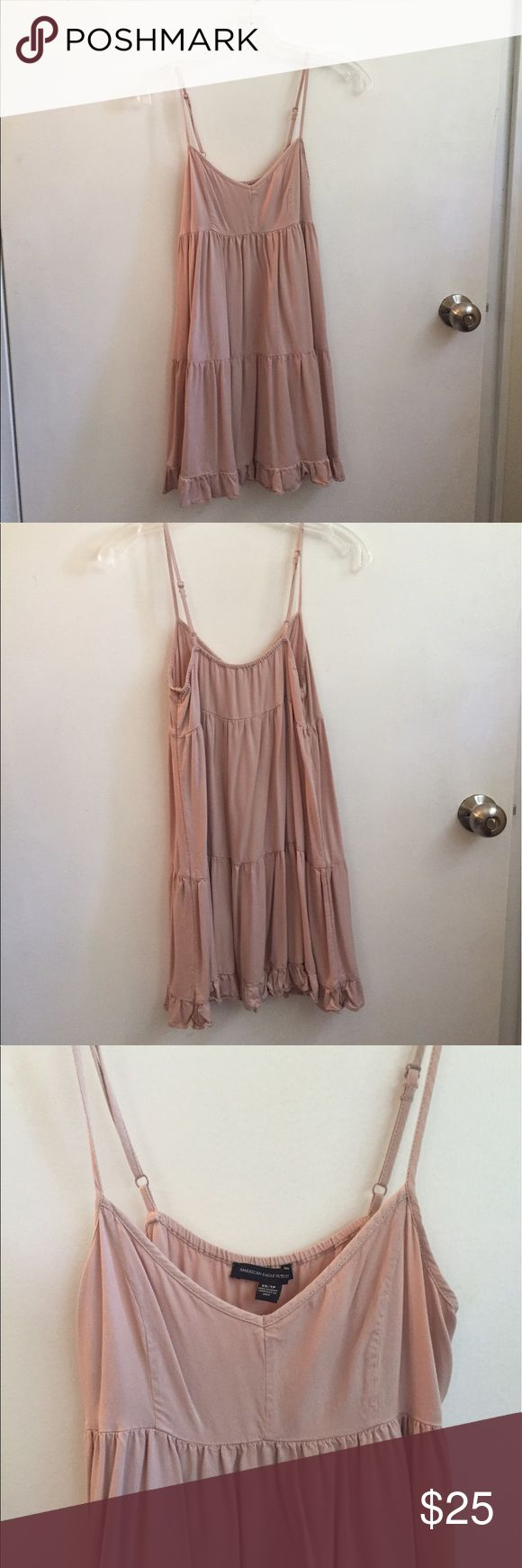 Light Pink American Eagle Dress Very flattering and comfortable! Only worn a few times! American Eagle Outfitters Dresses Mini