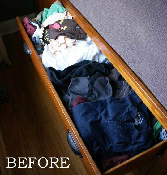 How to Organize Dresser Drawers - http://www.apartmenttherapy.com/5-tips-for-organizing-dresser-136085
