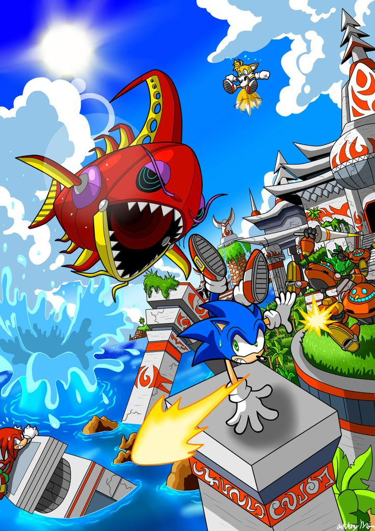 seaside hill - sonic-the-hedgehog Fan Art ... SONIC HEROES!
