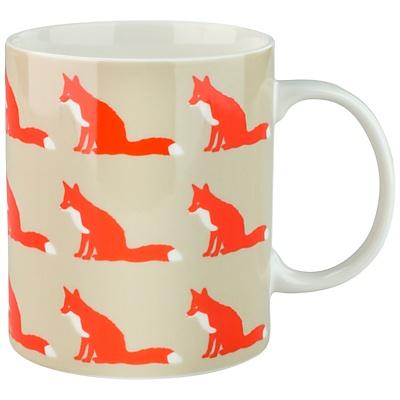 Anorak Kissing Foxes Mug - John Lewis