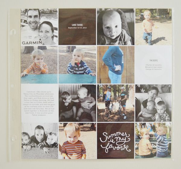 Great collage idea for Project Life insert