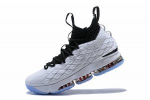 e22a233a7a5 Mens Nike LeBron XV EP 15 Graffiti James White Black University Red AQ2364  100 Basketball Shoes