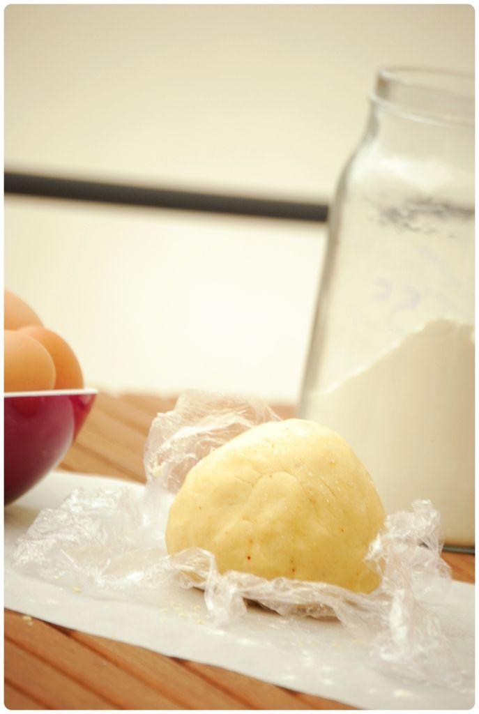 Pâte sablée au parmesan et piment d'Espelette